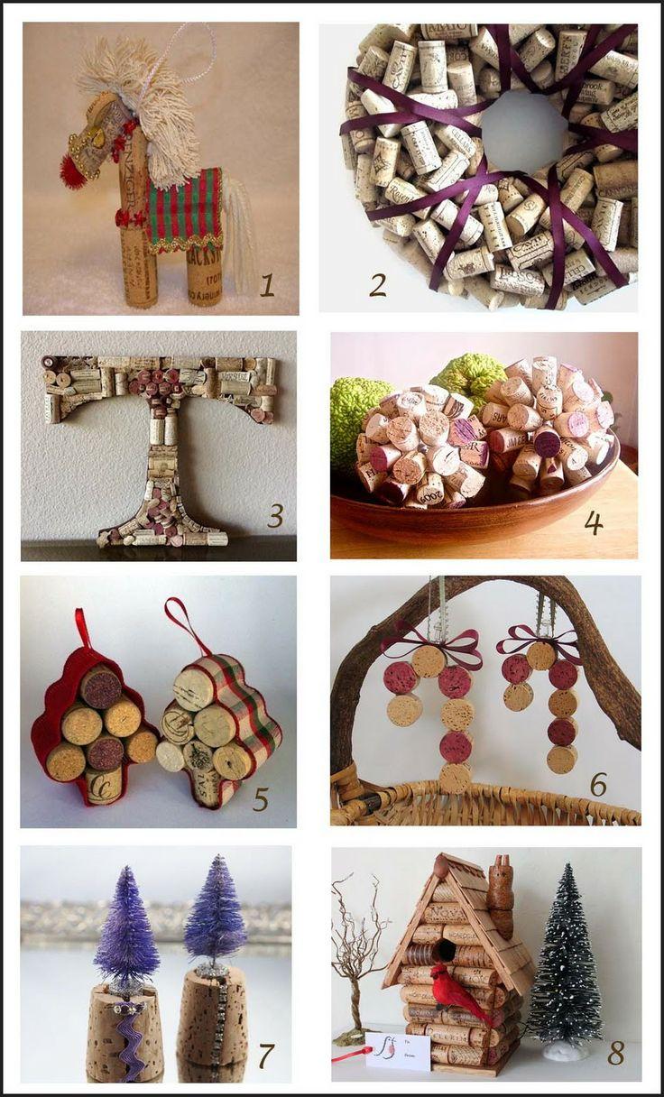 craftluxuries: Christmas wine cork specials