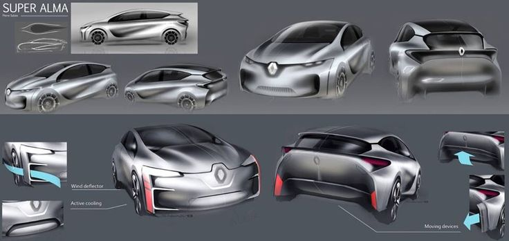 Renault concept sketches