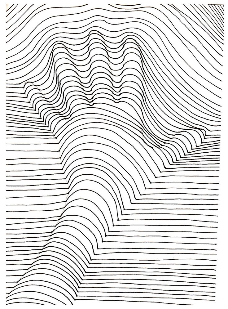 Free coloring page coloring-op-art-illusion-optique-main. A hand that seems out of the drawing !