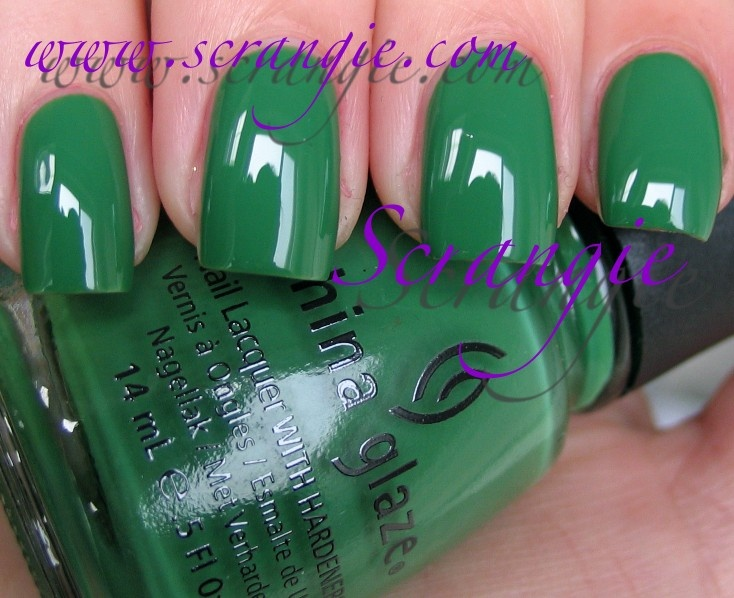 China Glaze Starboard from the Anchors Away Collection neutral green