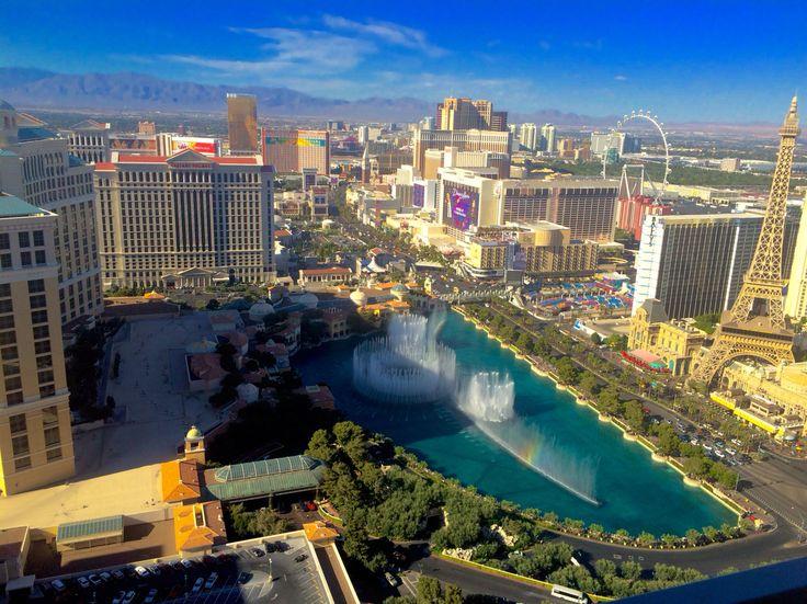 Vegas strip view from the Cosmopolitan