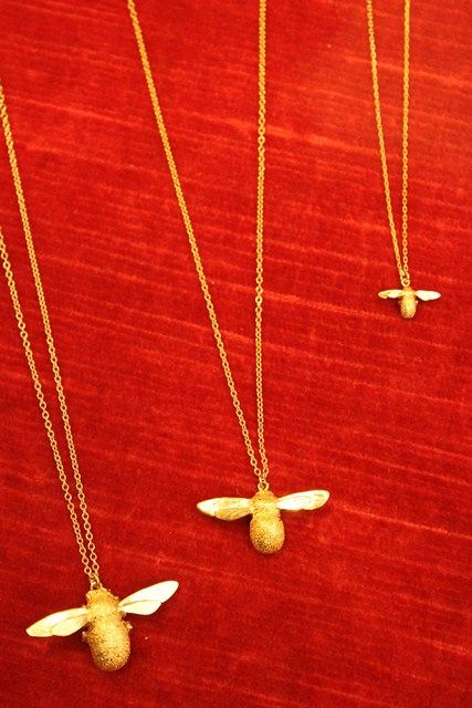 Alex Monroe - All three sizes of Bumblebee Necklaces  Bumblebee Necklace Baby Bee Necklace Teeny Tiny Bee Necklace