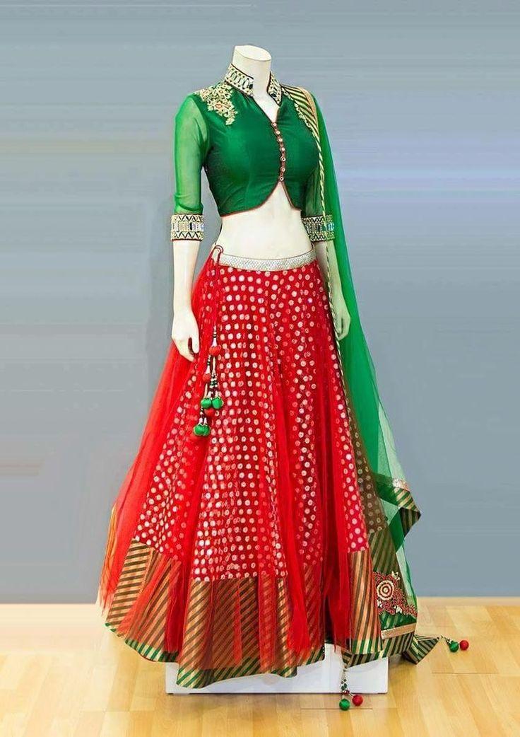 Red- Green Indian lahanga