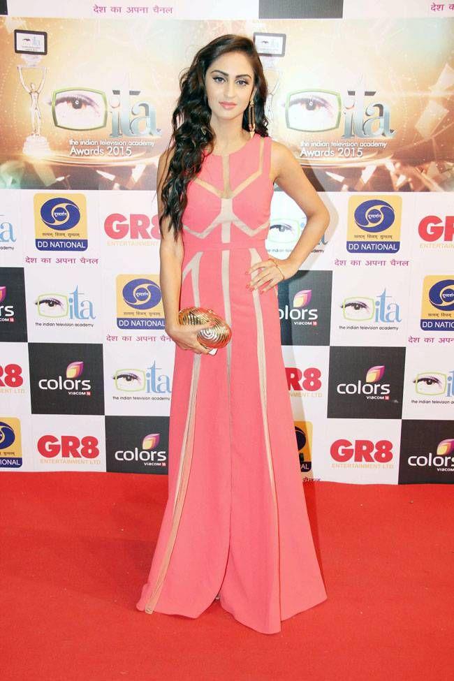 Krystle D'Souza at ITA Awards 2015. #Bollywood #ITAawards #Fashion #Style #Beauty #Hot