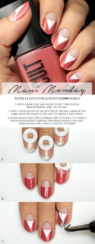 Mani Monday: Marsala Negative Space Nail Tutorial | Lulus.com Fashion Blog | Bloglovin'