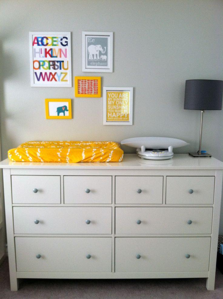 Ikea Dresser With Knobs Painted Gray Nursery Pinterest