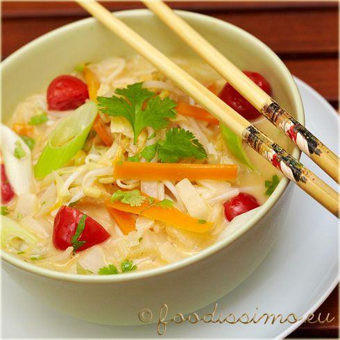 Thajská polievka s kokosovým mliekom