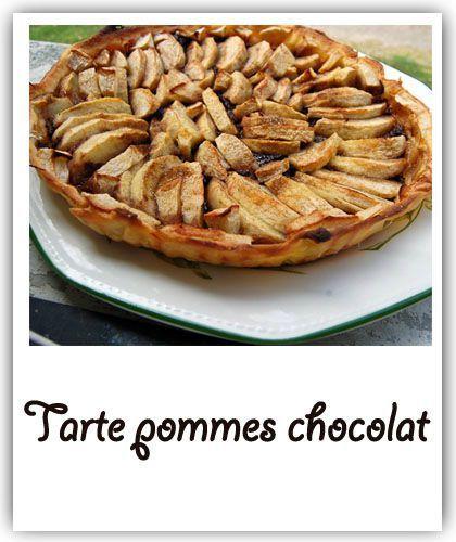 Tarte pommes chocolat
