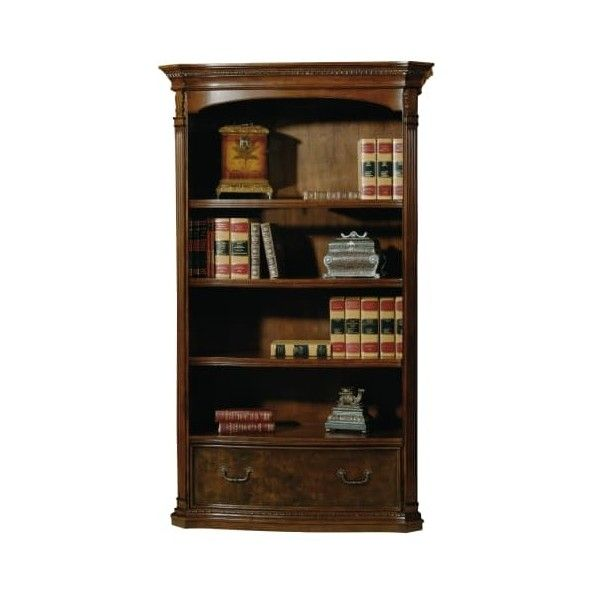 Hekman 79164 50 Inch Wide Lighted Bookcase Old World Walnut Burl 2 349 Liked On Polyvore Featuring Home Furni Walnut Bookcase Walnut Burl Bookcase Design