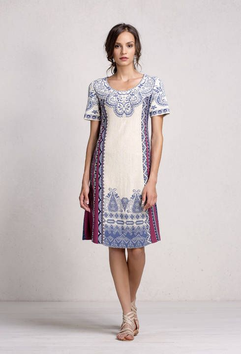 Dress Intarsia Pattern - Dress | Ivko Woman