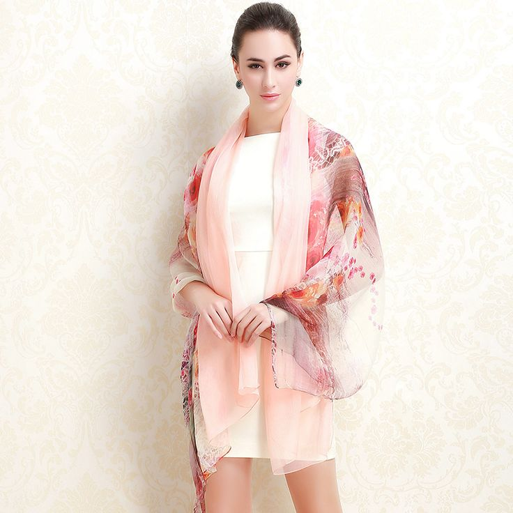 The new limited edition silk scarf scarves US Rui Taman long section of female spring silk scarf USD$28.17