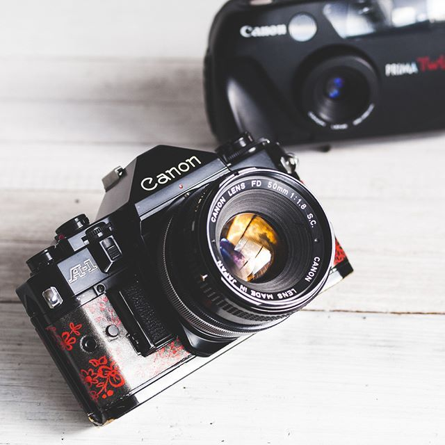 The A-1 (1978) was the top model of the Canon A-series.  More photos here: http://etsy.me/2n8XYx2    #shootfilm #lomography #filmphotography #filmisnotdead #analog #filmcamera #filmfeed #filmcommunity #cameraporn