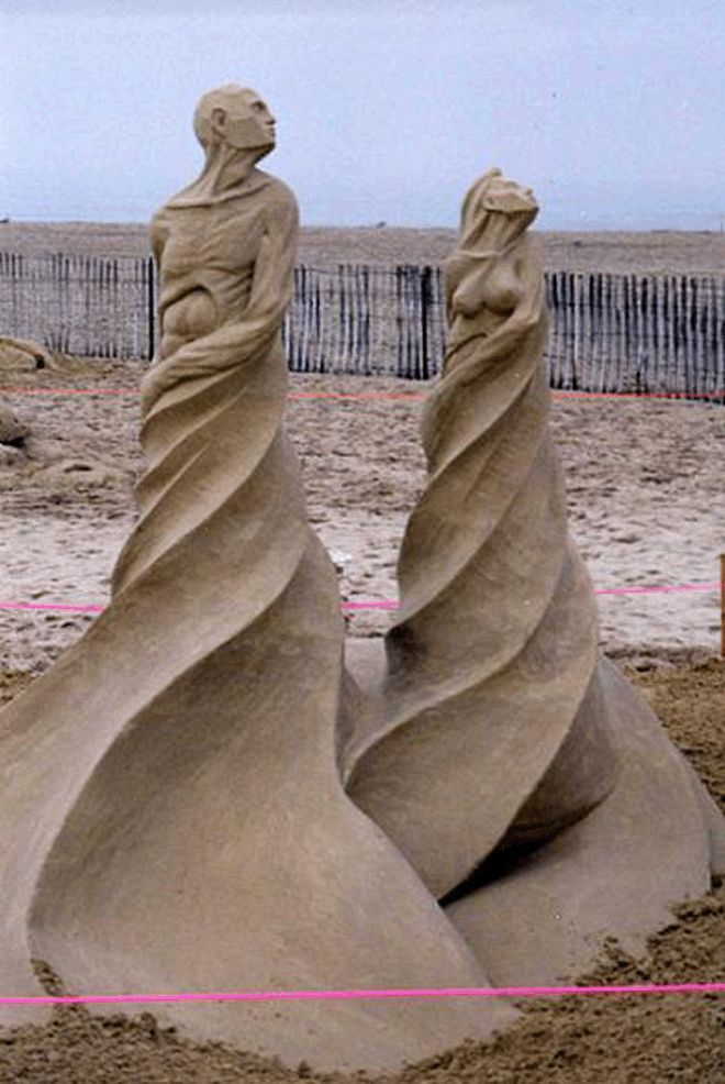Out of Twisting Sand ~Amazing Sand Art!!!
