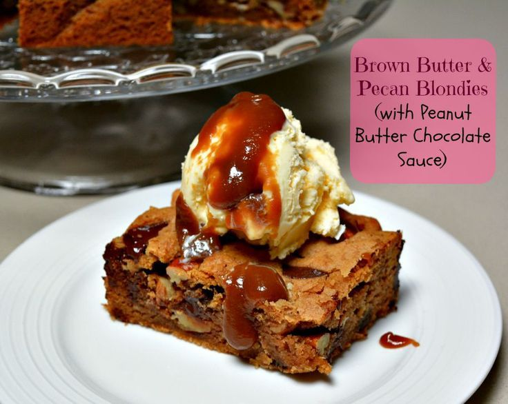 Brown Butter and Pecan Blondies   http://pinkpostitnote.com/2015/08/brown-butter-pecan-blondies.html