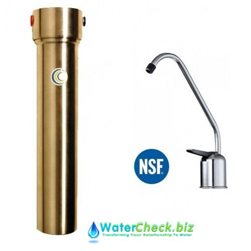 aquacera his stainless steel undersink fluoride water filter system with cerametix cartridge chrome faucet fluoride
