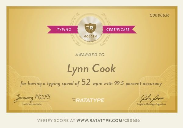 typing certificate lessons test touch learn practice
