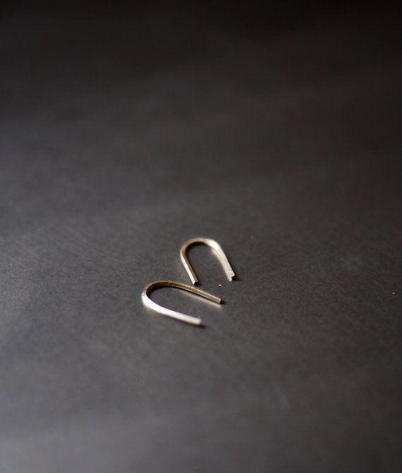 Hook Earrings Simple Earrings Gold Hook Earrings by MicaJewelsNYC, $20.00
