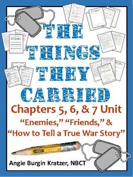 "This 20-page unit on chapters 5, 6, and 7 of The Things They Carried (""Enemies,"" ""Friend,"" and ""How to Tell a True War Story"") contains three lesson plans (60-120 minutes each), eight handouts, and one reading quiz. Materials focus motif, non-linear narration, and the comparison-contrast mode."
