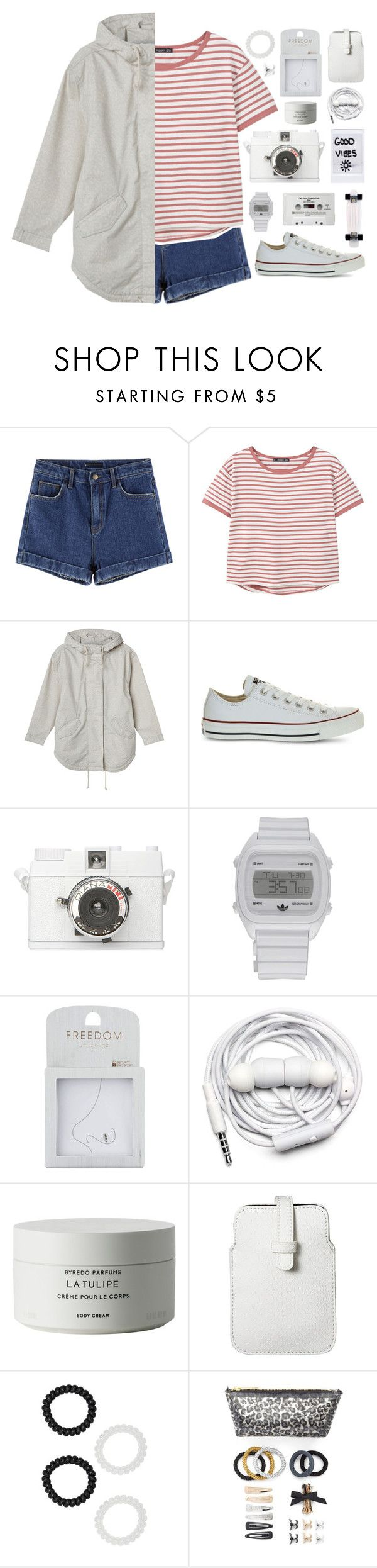 """just kids at heart // my dream wardrobe pt.33"" by undercover-martyn ❤ liked on Polyvore featuring MANGO, Monki, Converse, Lomography, adidas, Topshop, CASSETTE, Urbanears, Byredo and Mossimo"