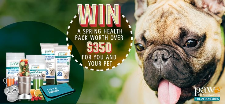 Win a $350 spring health pack for you & your pet!