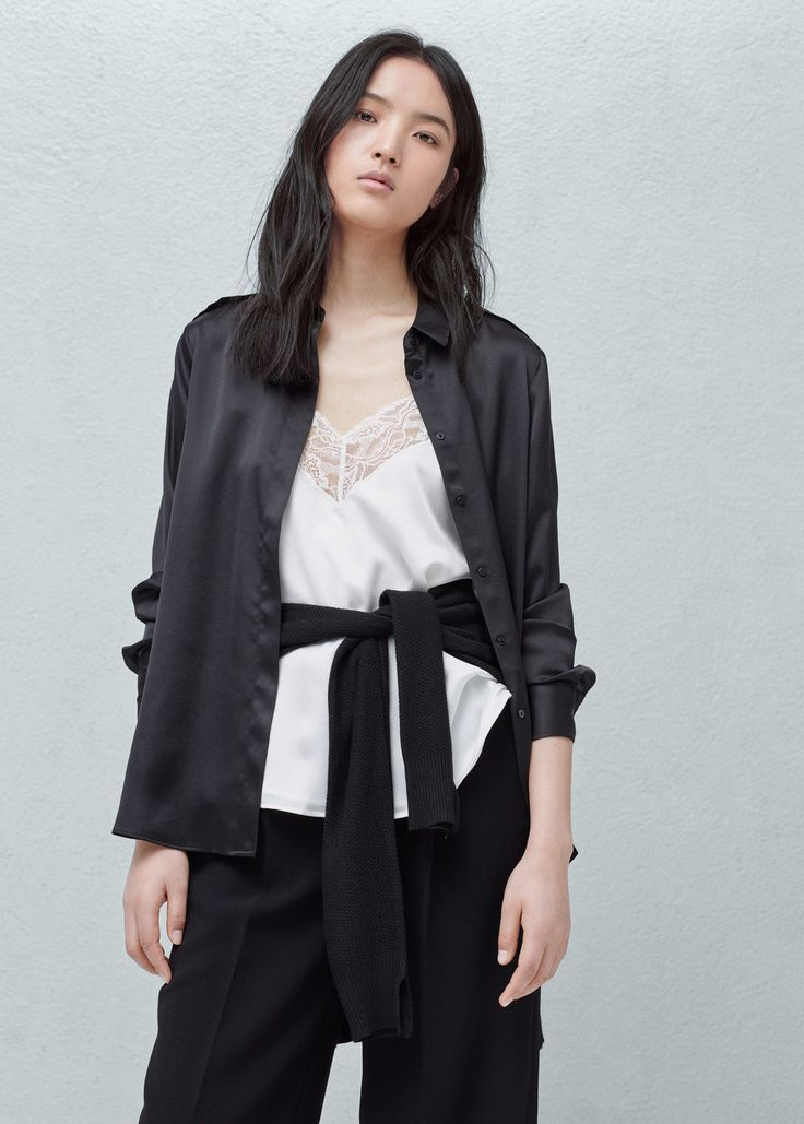Satin shirt -  Woman | MANGO United Kingdom