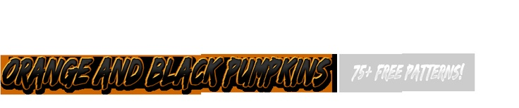 Orange and Black Pumpkins - free templates for carving