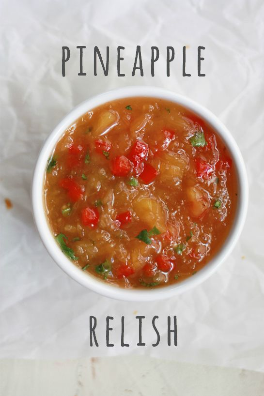 Pineapple Relish - Great on burgers, fish, chicken or sweet potato fries! (GF, Paleo) // One Lovely Life