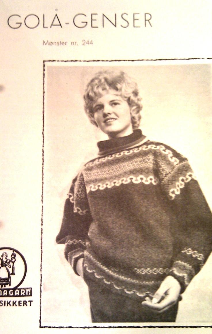 Golå genser 244