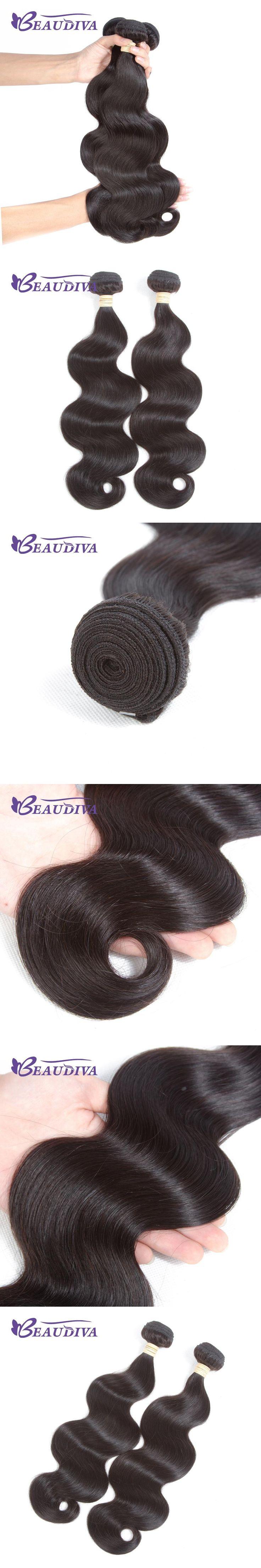 Beau Diva Hair Brazilian Body Wave Hair Weave Bundles 2PCS  100% Human Hair Bundles Remy Natural Color