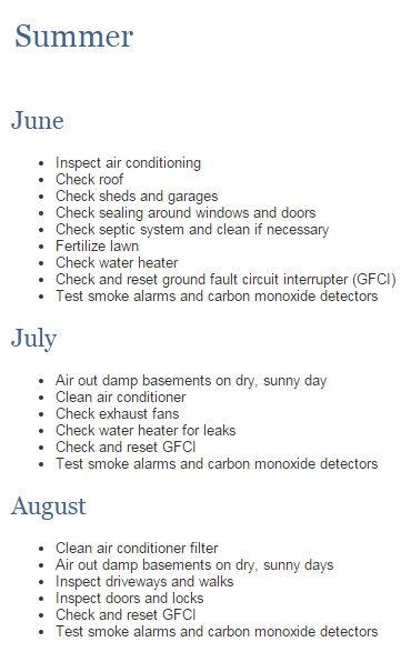 Summer Homeowner Maintenance List ! #newhome #construction #warranty #homemaintenance #Tarion #summer
