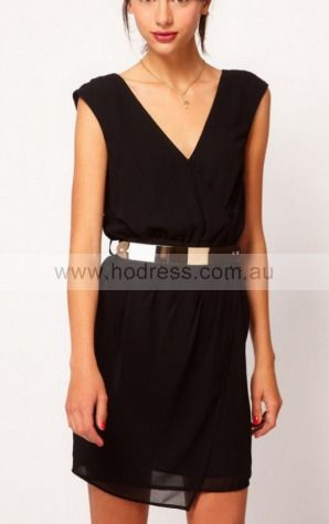 Sheath V-neck Knee-length Polyester Natural Formal Dresses gt2928--Hodress