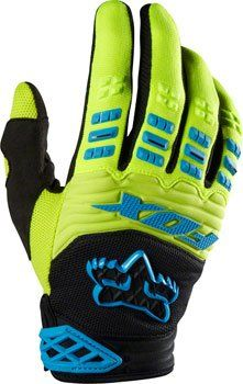 Fox Racing Dirtpaw Race Gloves Green/Blue, L - Men's - http://ridingjerseys.com/fox-racing-dirtpaw-race-gloves-greenblue-l-mens/