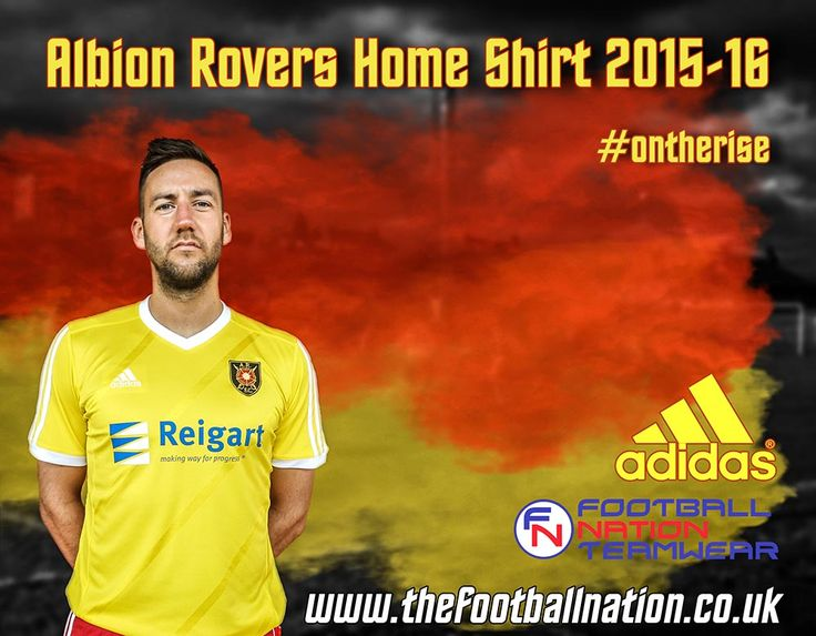 The new Albion Rovers home shirt. #adidas #albionrovers #ontherise #scottishfootball