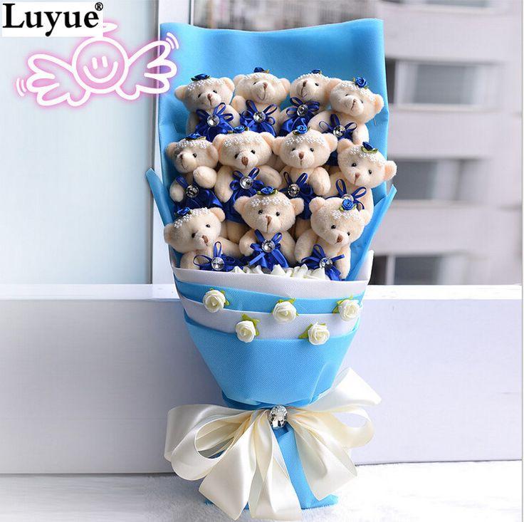 Cheap Decorative Flowers & Wreaths, Buy Directly from China Suppliers:NEW Handmade Wedding bridal bouquet Soft Plush Toy Bouquet Teddy Bear Bouquet Cartoon Doll Fake Rose Valentine/Graduati