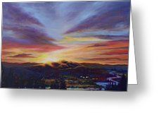 Morning Light In Central Hawkes Bay Greeting Card by Laura Wilson