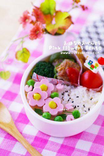 Pink Flowers Bento