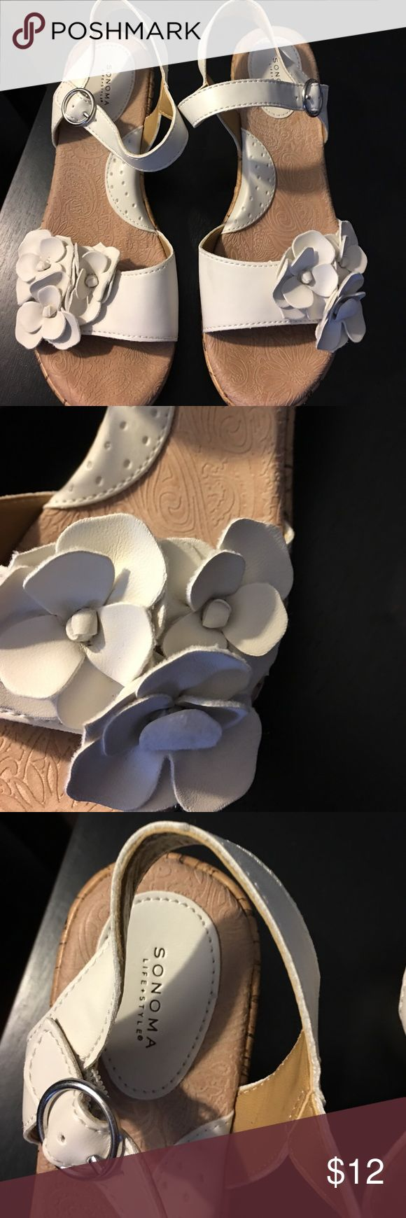 Sonoma Ladies Wedged Heels Gently Worn a couple times, Good Condition, No Box Sonoma Shoes Heels