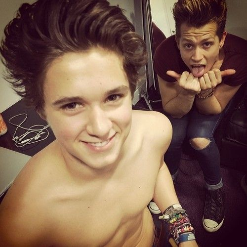 brad simpson and James McVey from The Vamps