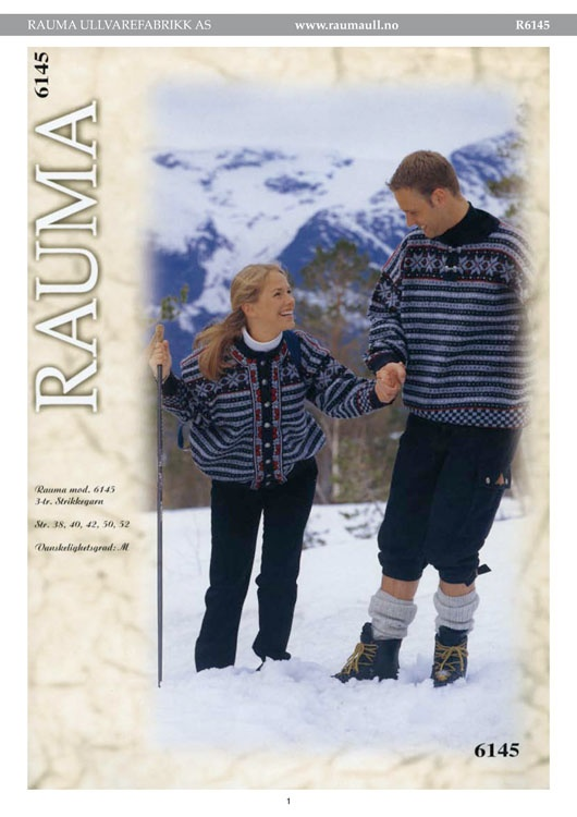R6145-R6145 Genser og kofte, Rauma-garn