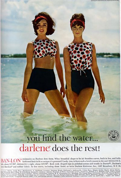 Vintage swimsuit ads / Darlene