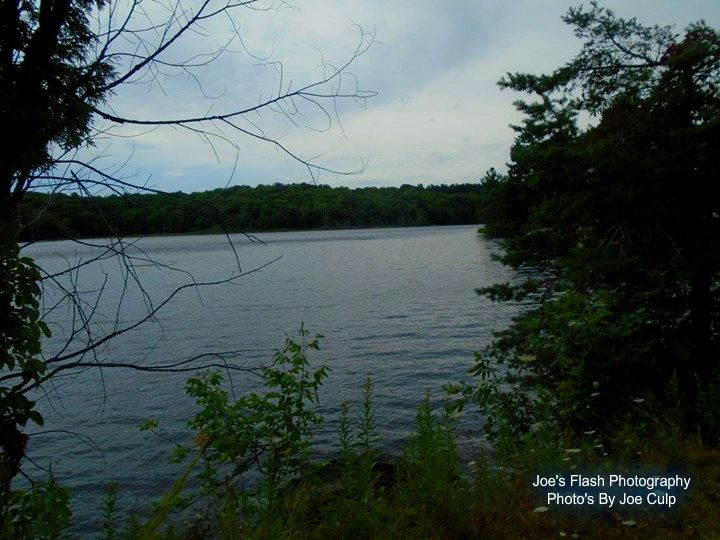 Picturesque beauty of the Seguin River at the Ms. Yvonne Williams Park in Parry Sound Ontario