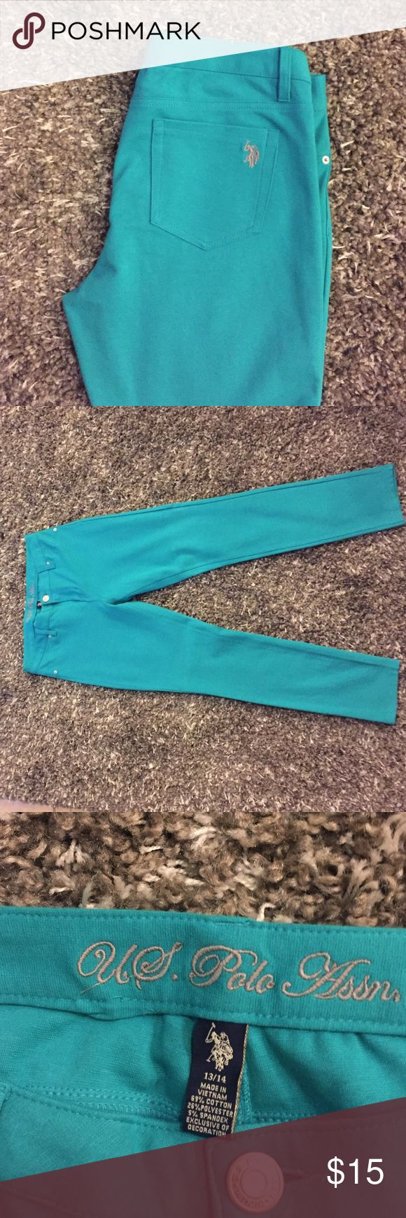 Turquoise jeans/tights New turquoise jeans Polo by Ralph Lauren Jeans Skinny