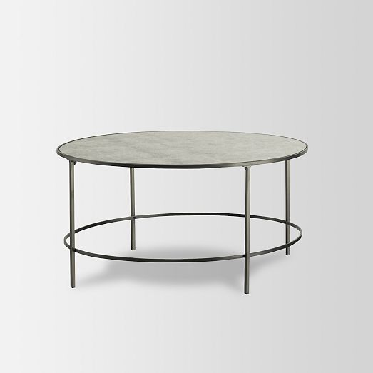 Foxed Mirror Coffee Table | West Elm $399