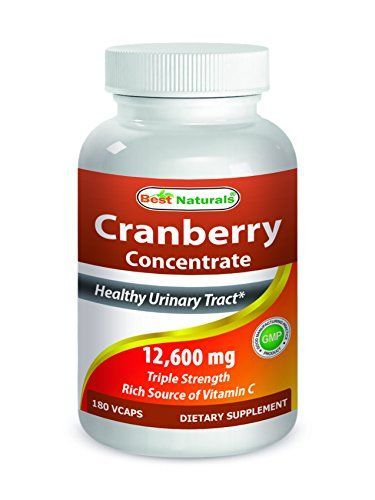 Best Naturals Cranberry 3X Strength 12600 mg 180 Veggie Capsules //Price: $ & F