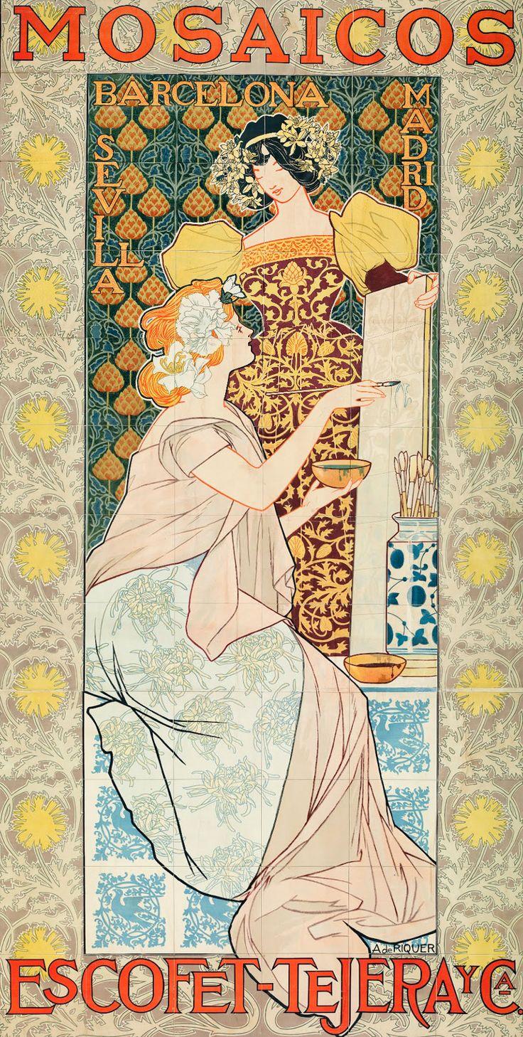 Poster design 1900 - Poster Advertising Design By Alexandre De Riquer Ca 1900 Art Nuevo Tumblr