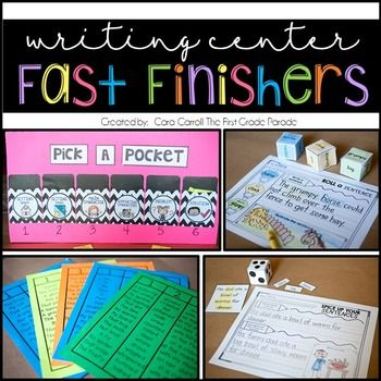 If you're anything like me, you're always looking for fun and creative ways to keep you kids engaged and on task after they're finished with their work. The writing center is usually my favorite fast finisher, but oftentimes the novelty wears off when kids choose from the same thing day after day.   These resource contains tried and true writing center fast finishers guaranteed to keep your kids engaged, on task, and writing!
