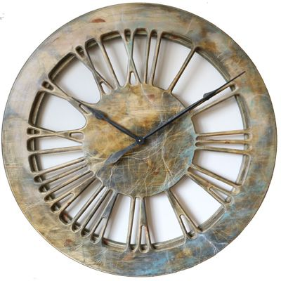 extra large handmade contemporary wall clock wooden unique skeleton clock - Designer Large Wall Clocks