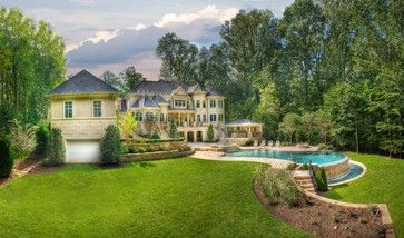 CURB APPEAL – another great example of beautiful design. Barbarine with modern pool in dc metro by Lewis Aquatech.