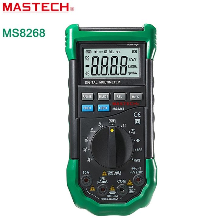 27.77$  Know more - http://aivft.worlditems.win/all/product.php?id=32587694576 - MASTECH MS8268 Digital Multimeter Auto Range Protection AC / DC Ammeter Voltmeter Ohm Frequency Electrical Tester Diode Detector