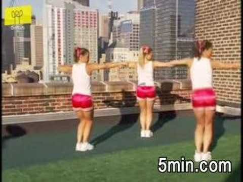 An easy dance routine video, step by step for beginners